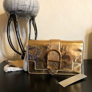 Beautiful Gold Leather Anne Klein Bag